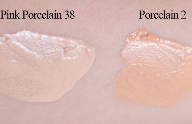 Make Up For Ever Face and Body Liquid Makeup (blended swatches)