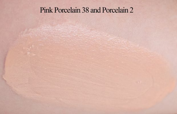 Make Up For Ever Face and Body Liquid Makeup (mixed together swatch)