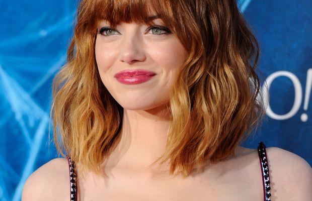 Emma Stone medium wavy hair