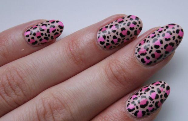 Leopard print nail art (2)