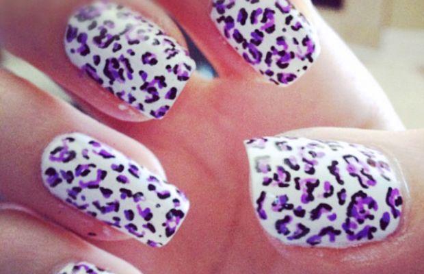 Leopard print nail art (1)