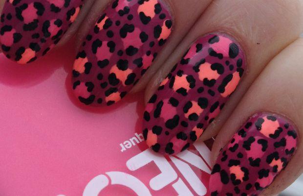 Leopard print nail art (3)