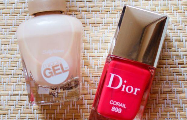 Sally Hansen and Dior nail polish