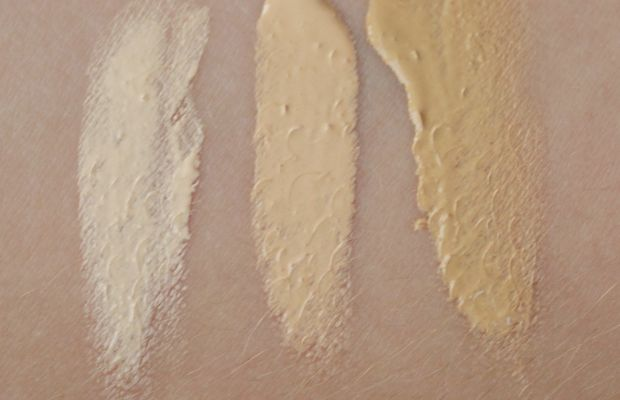 Beautycounter Tint Skin Hydrating Foundation swatches