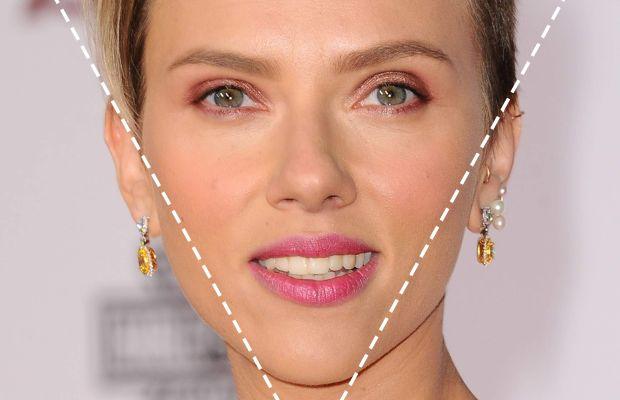 Inverted triangle face shape