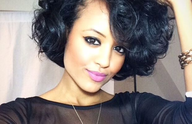Curly bob with volume