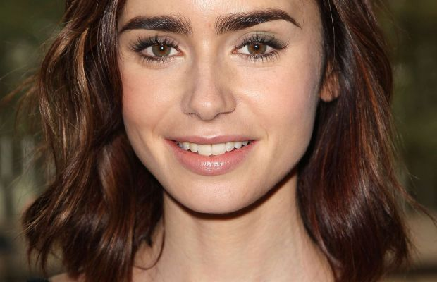 Lily Collins, Rules Do Not Apply luncheon, 2016