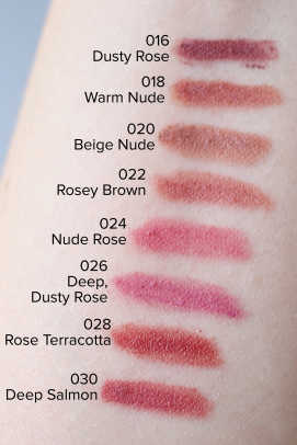 Bite Beauty The Lip Pencil swatches (016 to 030)