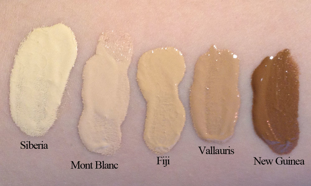 NARS All Day Luminous Weightless Foundation (swatches)