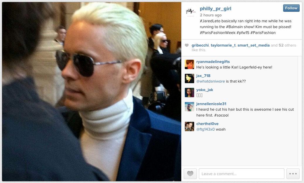 Jared Leto blonde hair