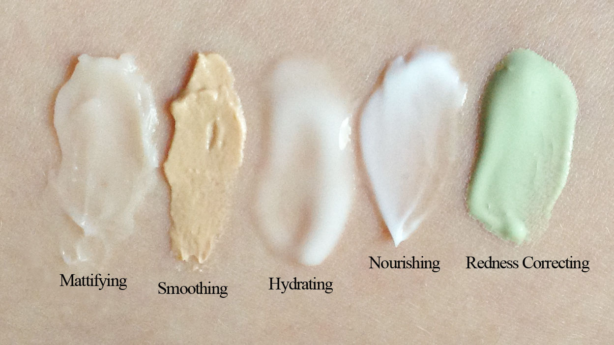 Make Up For Ever primer (texture swatches)