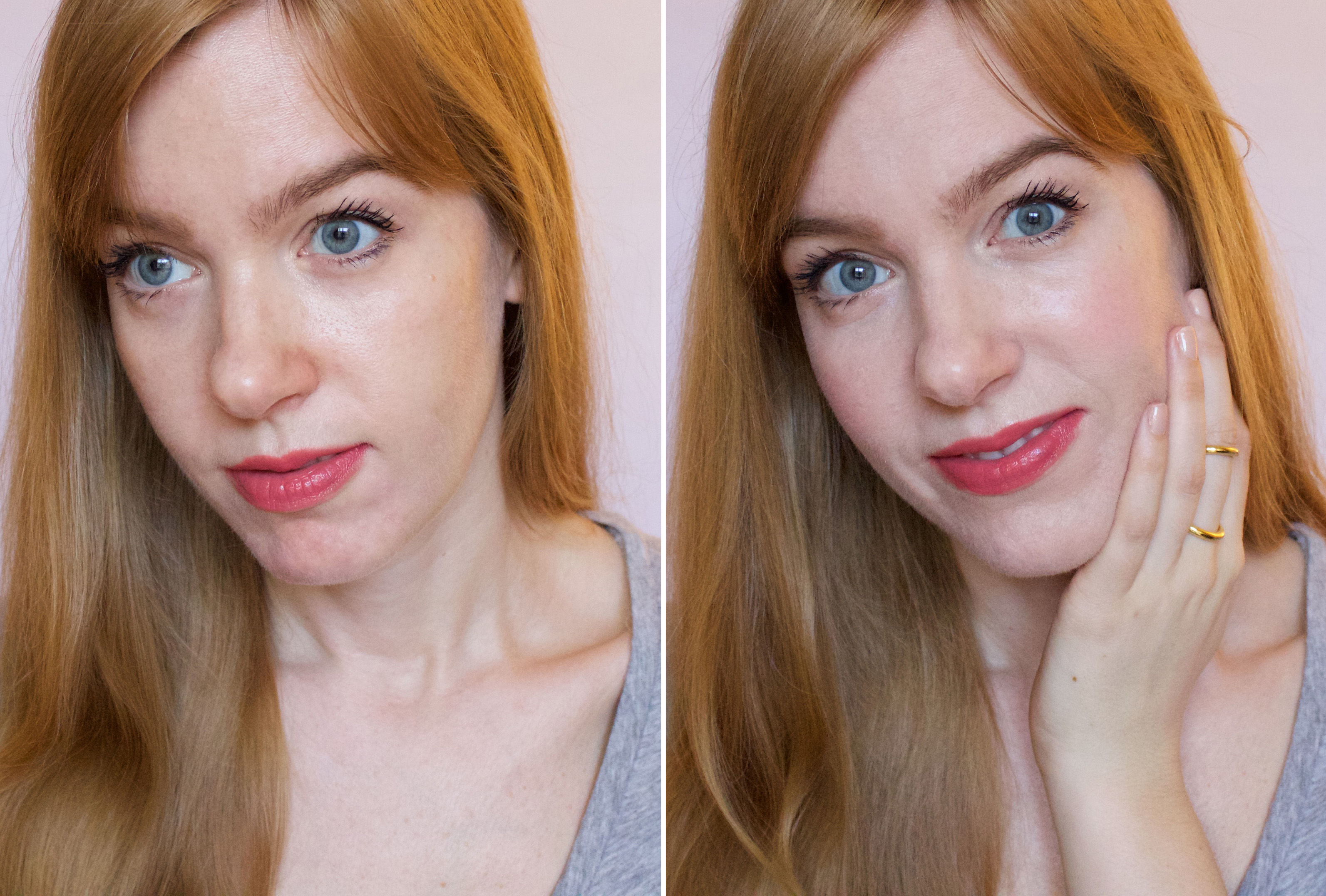 Make Up For Ever Step 1 Skin Equalizers (before and after)