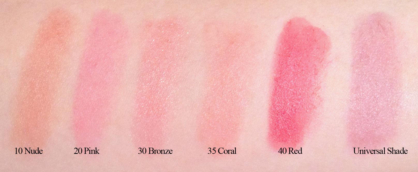 The Body Shop Lip and Cheek Velvet Sticks (swatches)