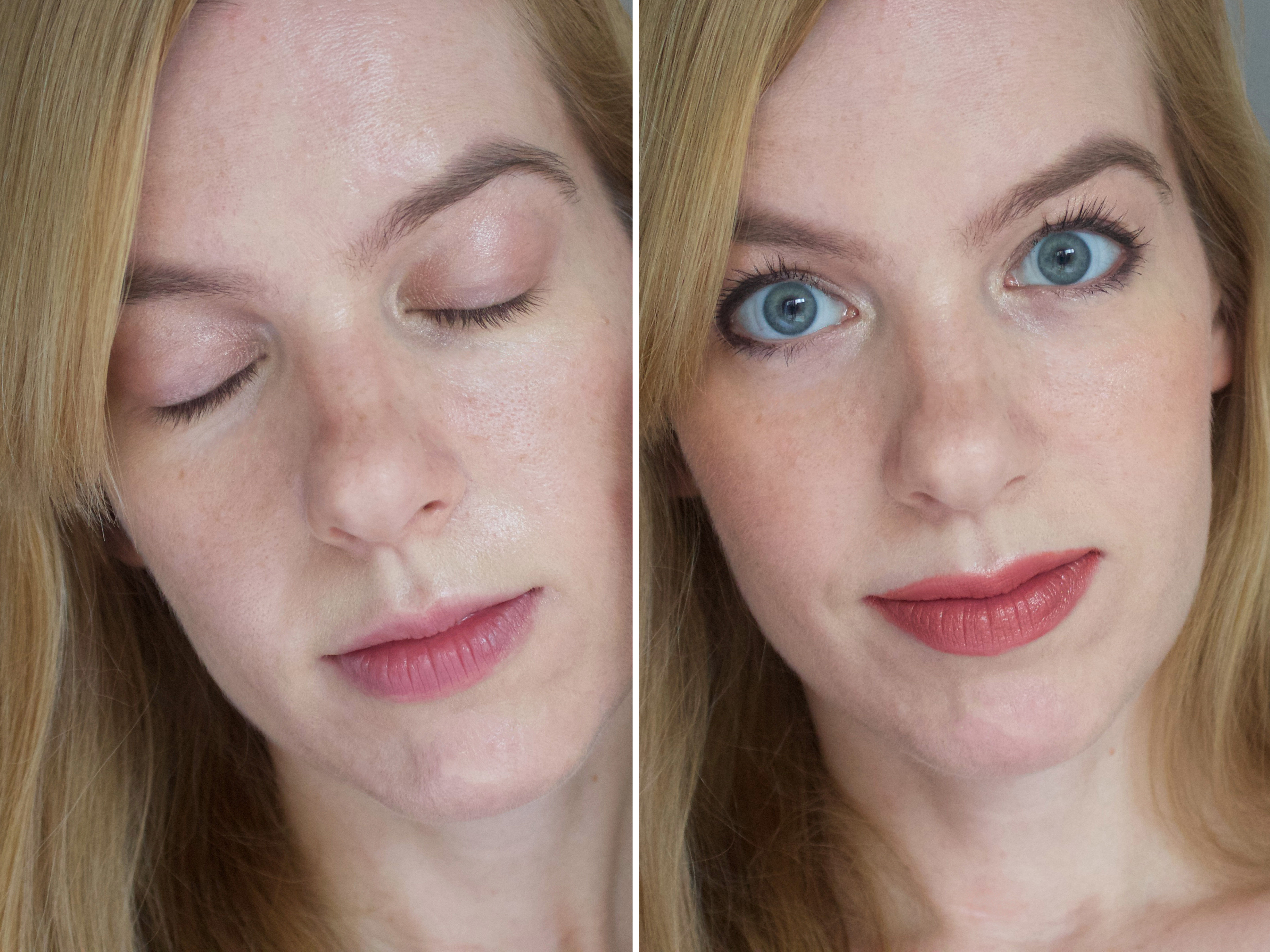 Before and after RMS Tinted Un Powder