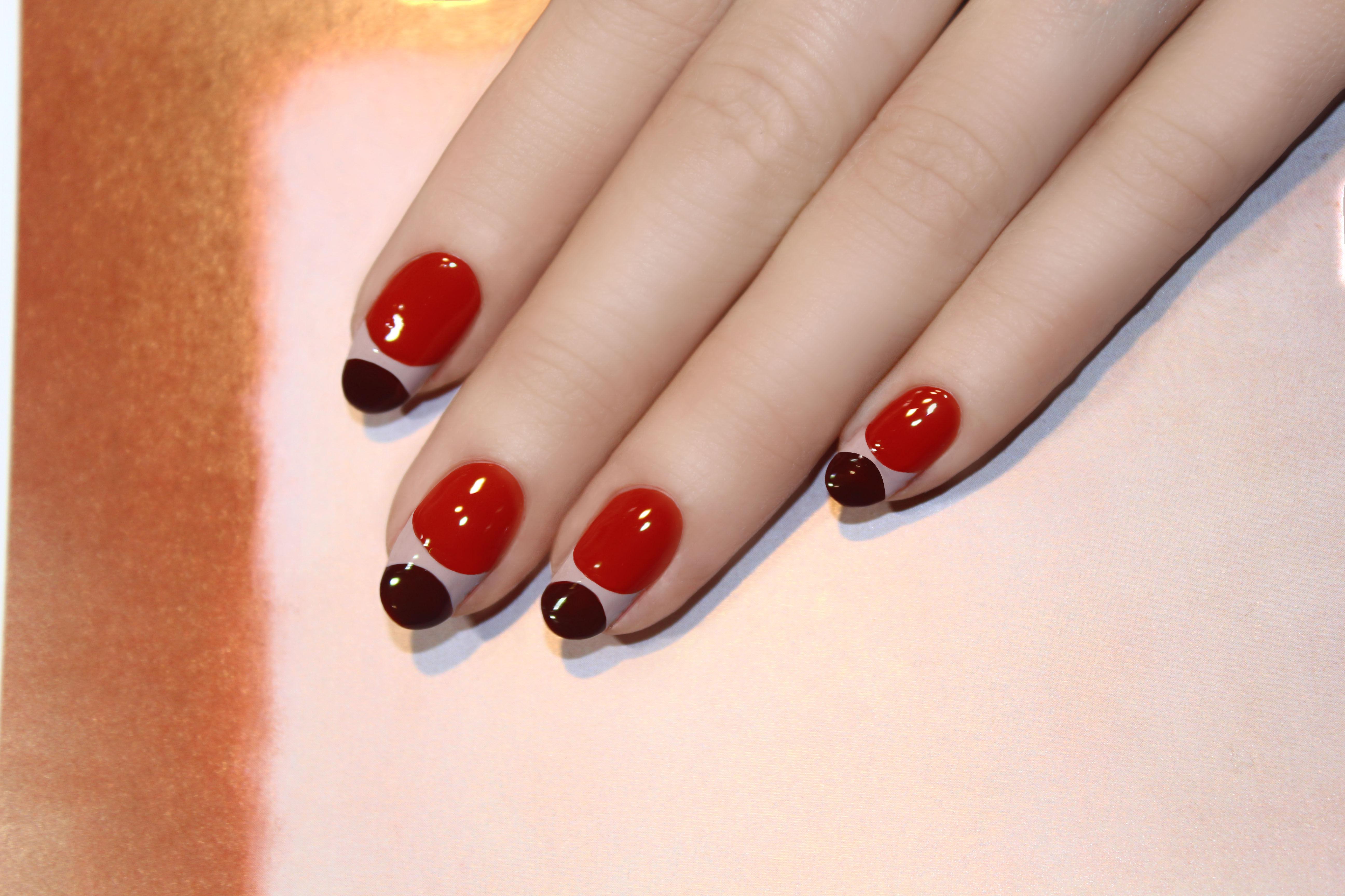 Double moon manicure