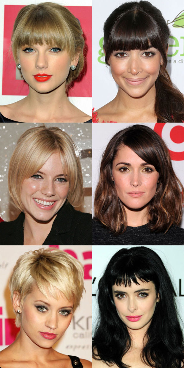 Sensational The Best And Worst Bangs For Oval Faces Beautyeditor Short Hairstyles Gunalazisus