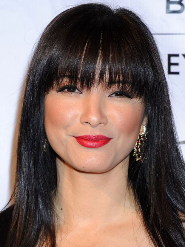 Excellent The Best And Worst Bangs For Heart Shaped Faces Beautyeditor Short Hairstyles Gunalazisus