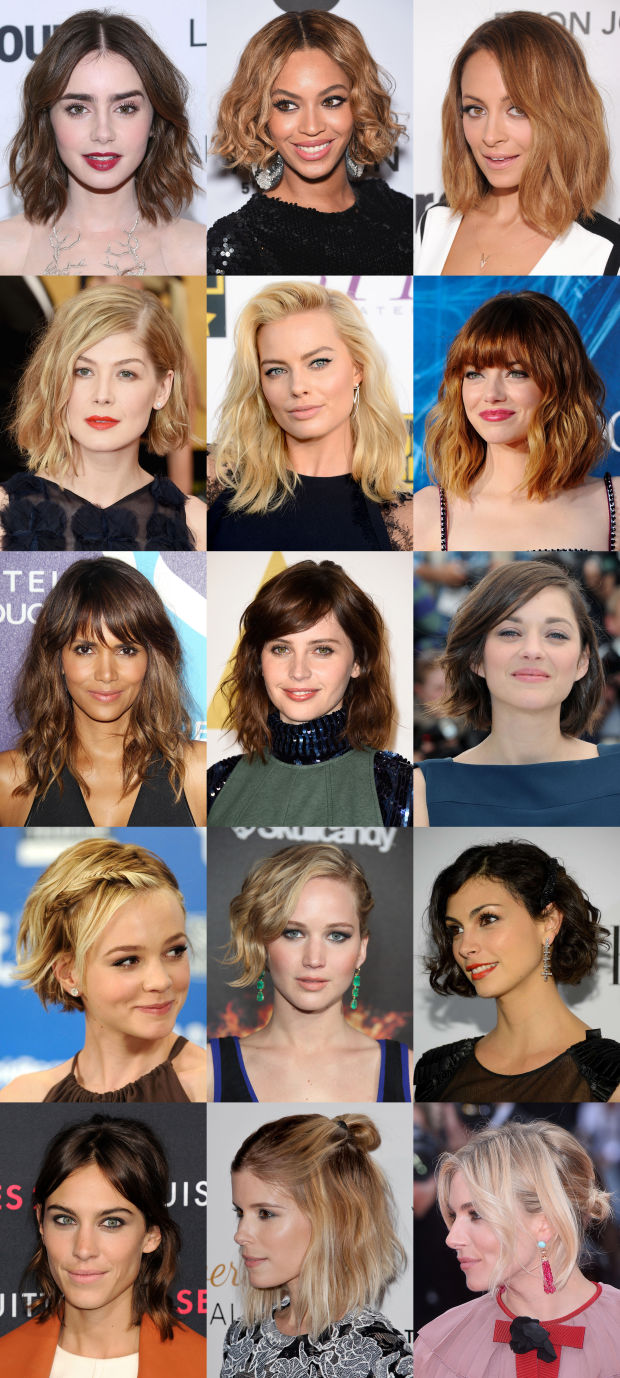 15 of the best celebrity hairstyles for medium, wavy hair.