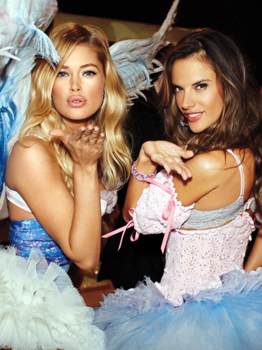Doutzen Kroes and Alessandra Ambrosio - Victoria's Secret fashion show 2012