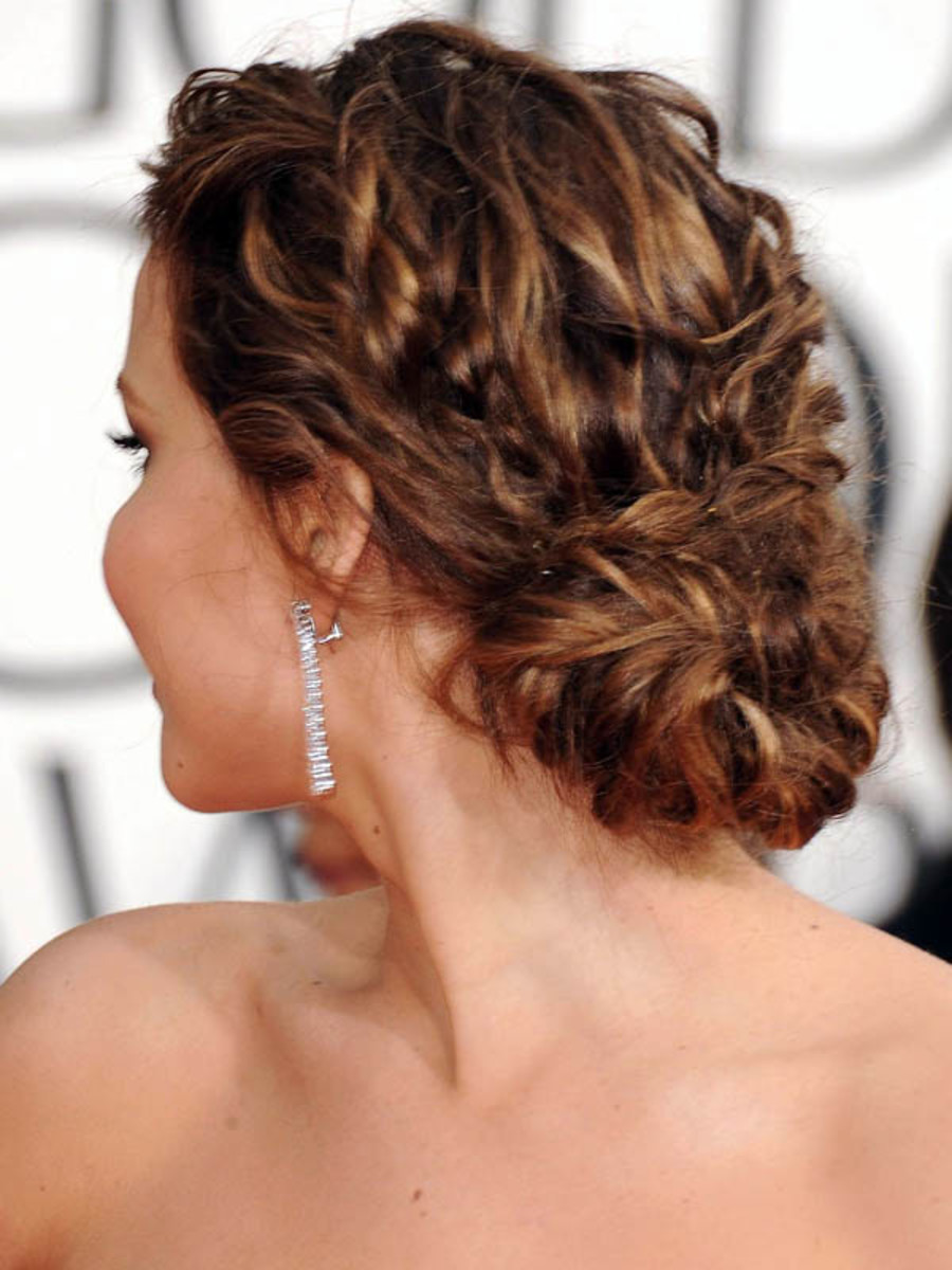 Jennifer Lawrence - Golden Globe Awards 2013 hair