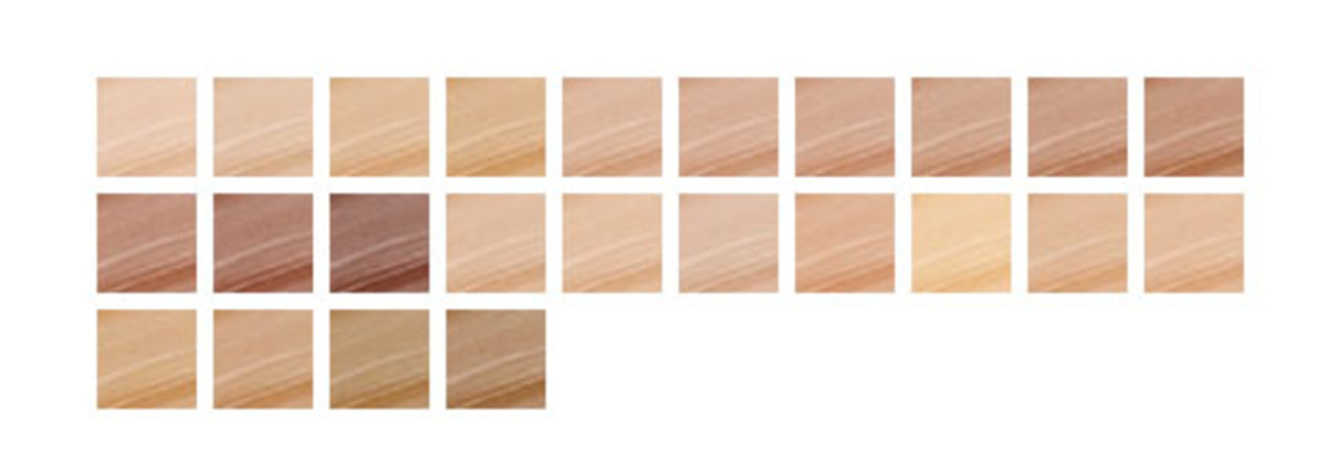 Cover FX Natural Finish Oil-Free Foundation (shade chart)