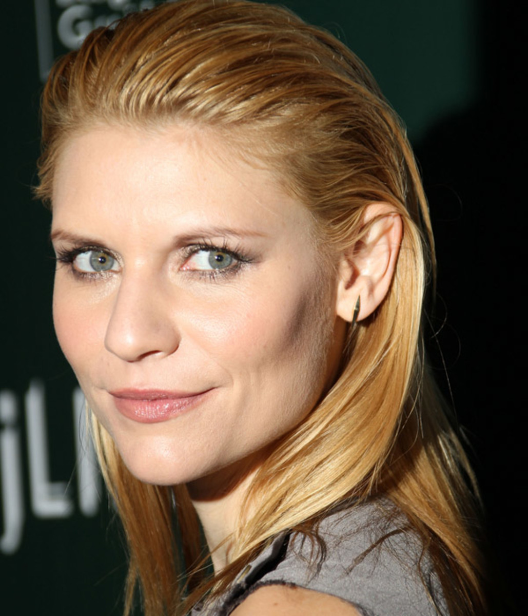 Claire Danes slicked back hair