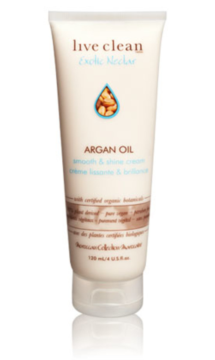 Live-Clean-exotic-nectar-argan-oil-smooth-and-shine-cream