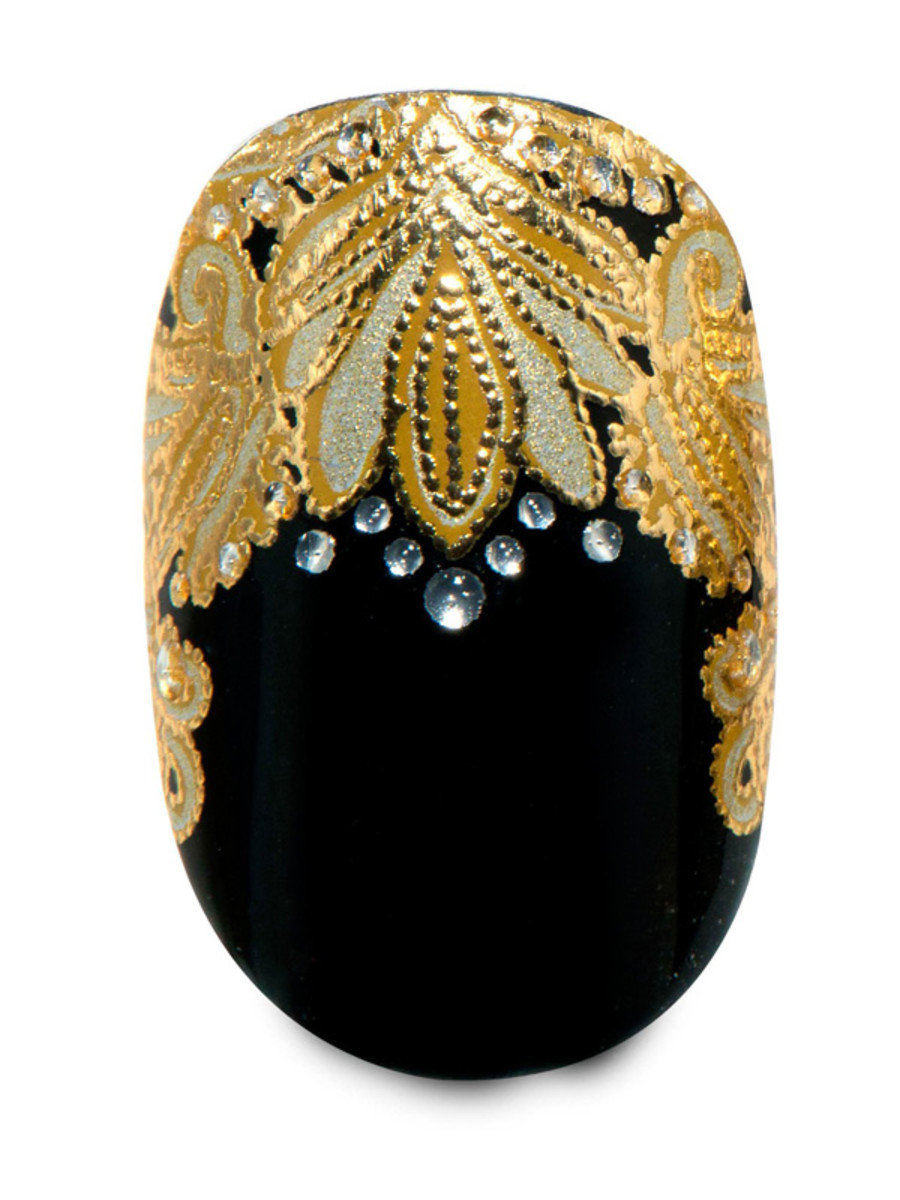 Revlon by Marchesa 3D Jewel Appliques in Crown Jewels (over Revlon Nail Enamel in Knockout)