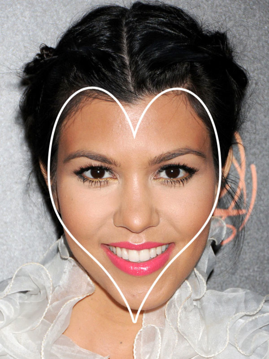 Kourtney Kardashian heart face