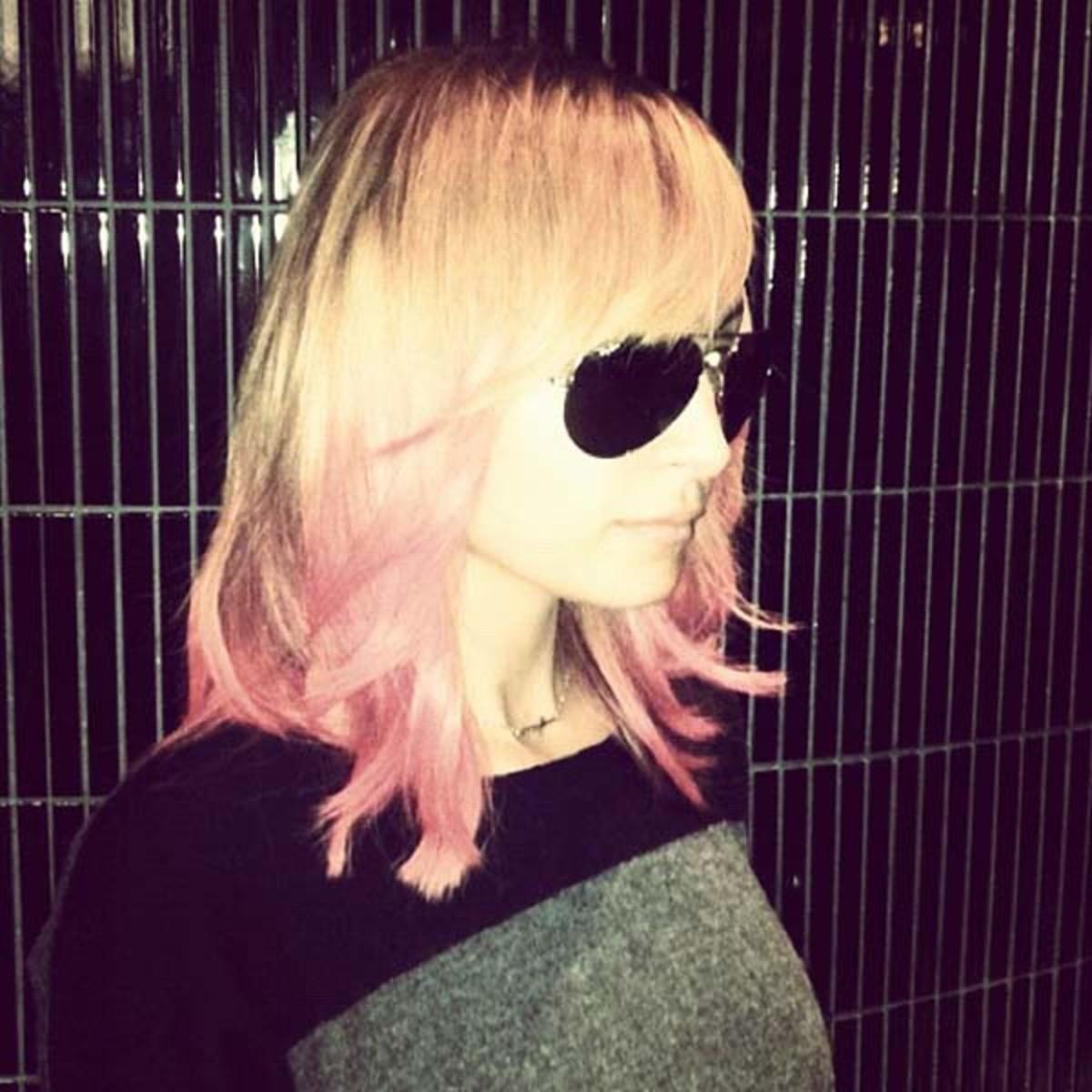 Nicole Richie pink hair