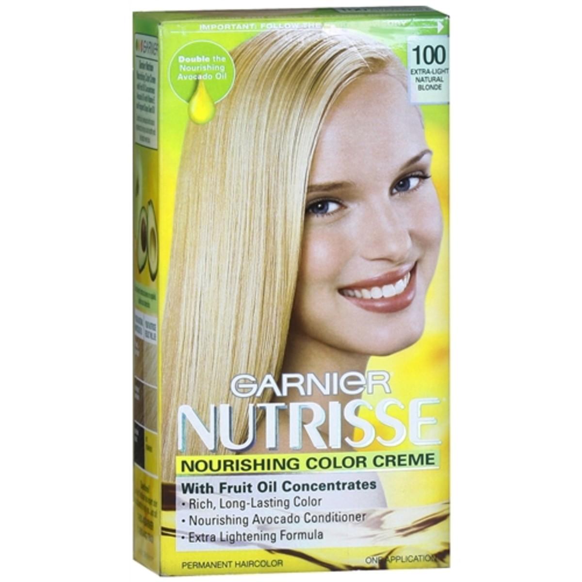 Garnier Nutrisse Nourishing Color Creme in 100 Extra-Light Natural Blonde