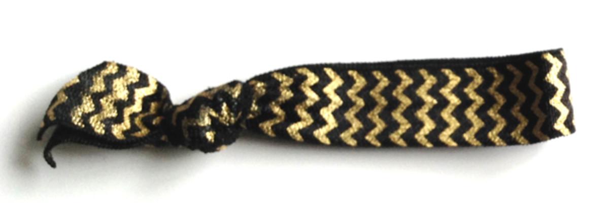Love Me Knot chevron hair tie