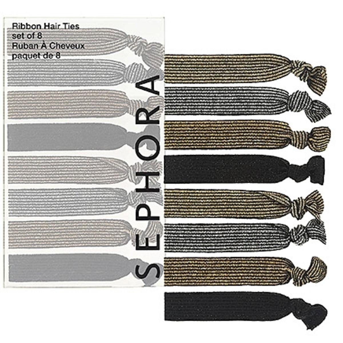 Sephora Collection Ribbon Hair Ties Metallic