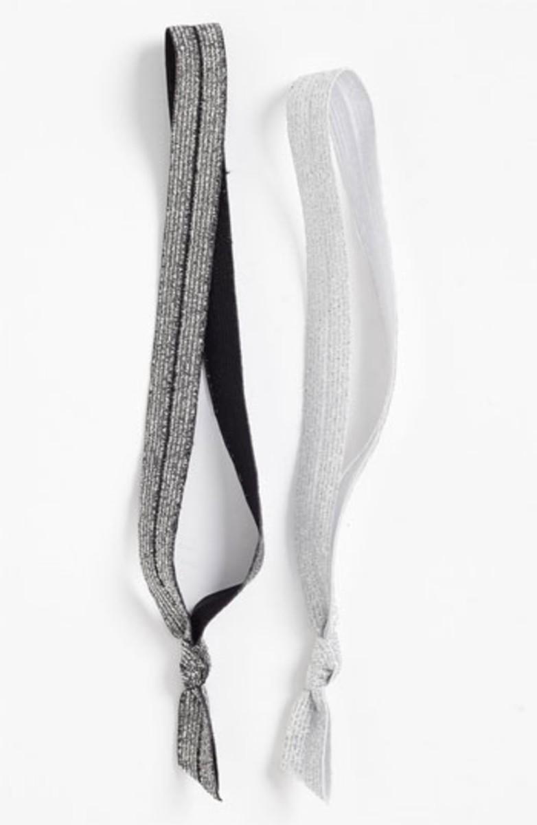 Emi-Jay Ribbon Headbands Silver Glitter