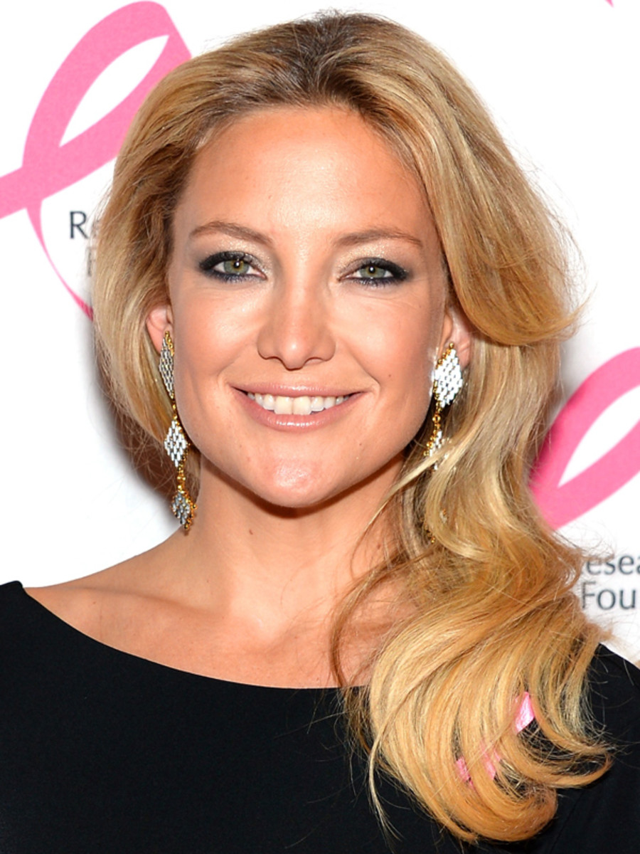 Kate Hudson beauty tips - BCRF Hot Pink Party, 2013