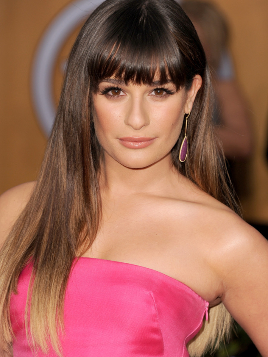 Lea Michele - Ombre hair at the 2013 SAG Awards