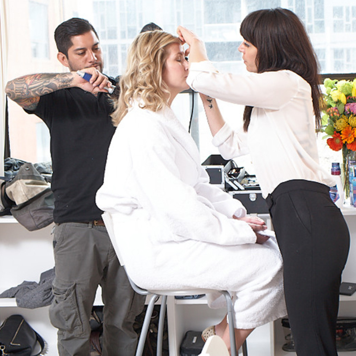 Crest makeover - hair and makeup
