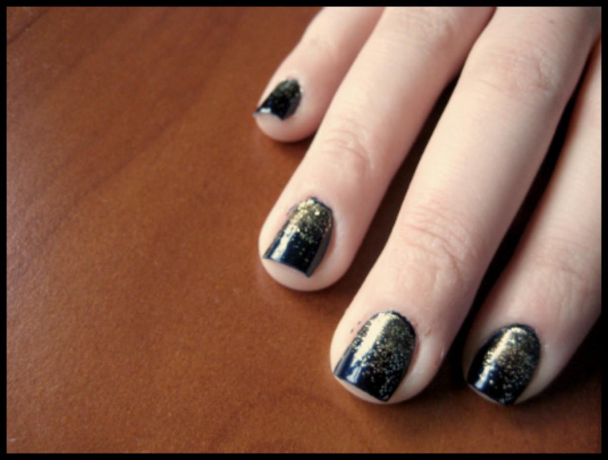 Glitter Ombre mani - step 4