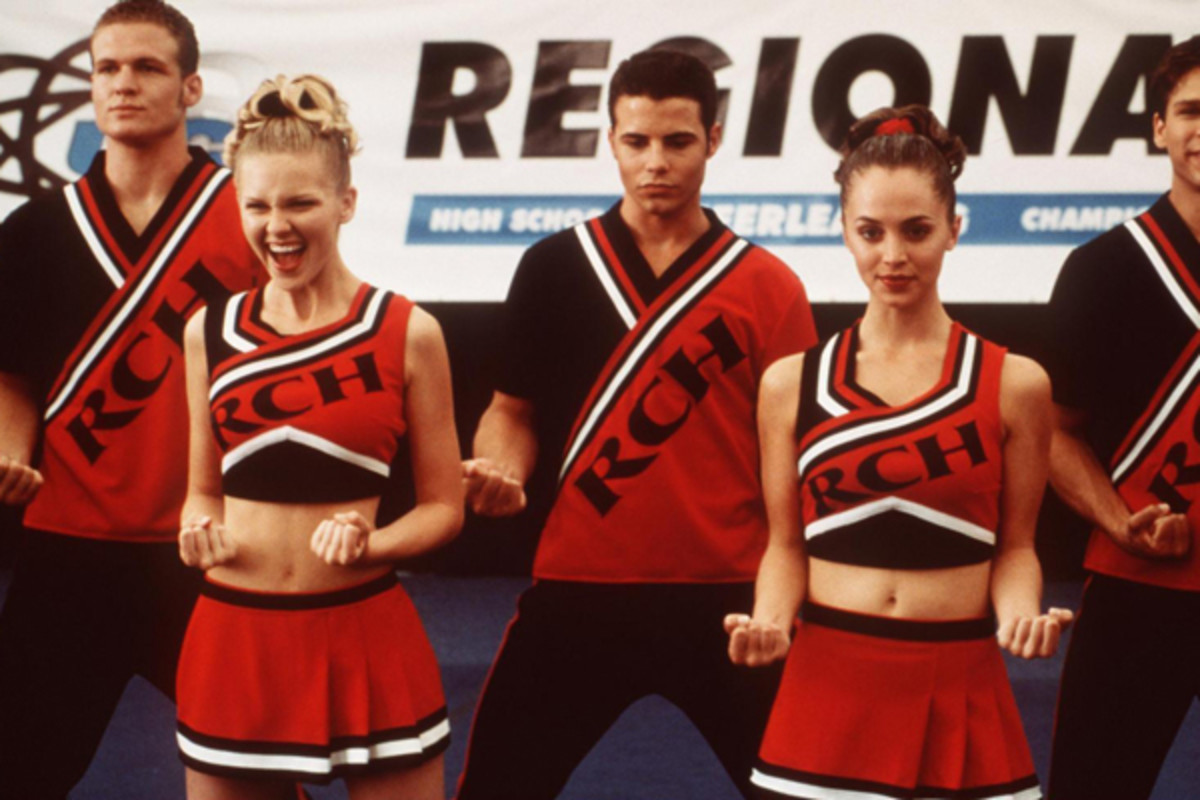 high ponytails cheerleaders