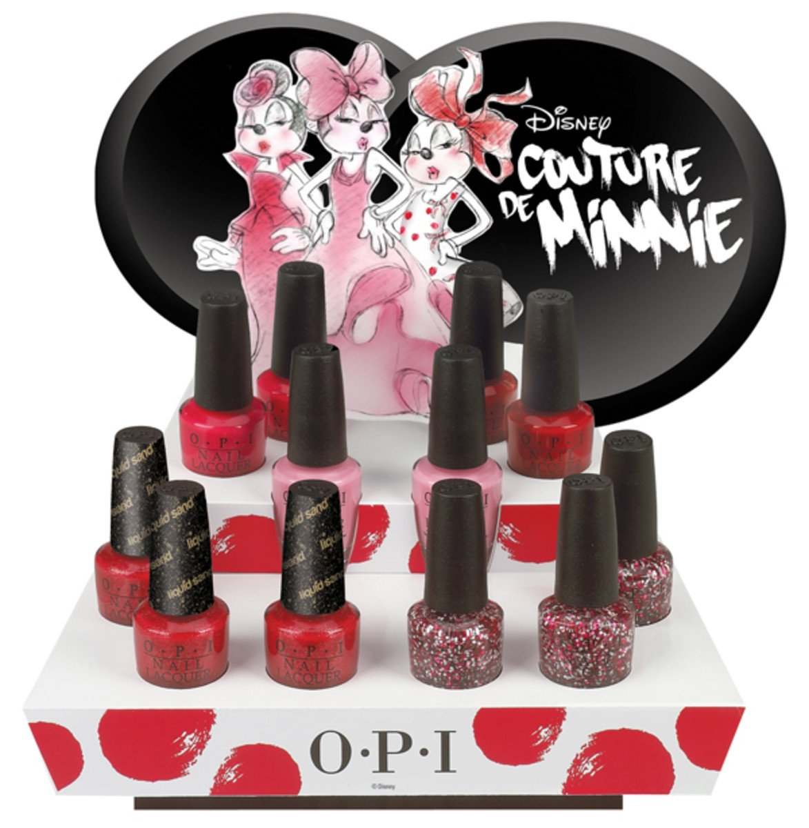 OPI Couture de Minnie display