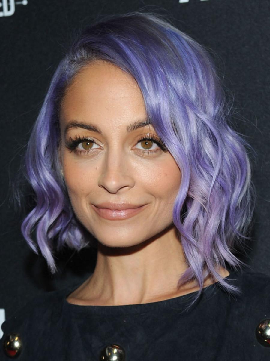Nicole Richie purple hair
