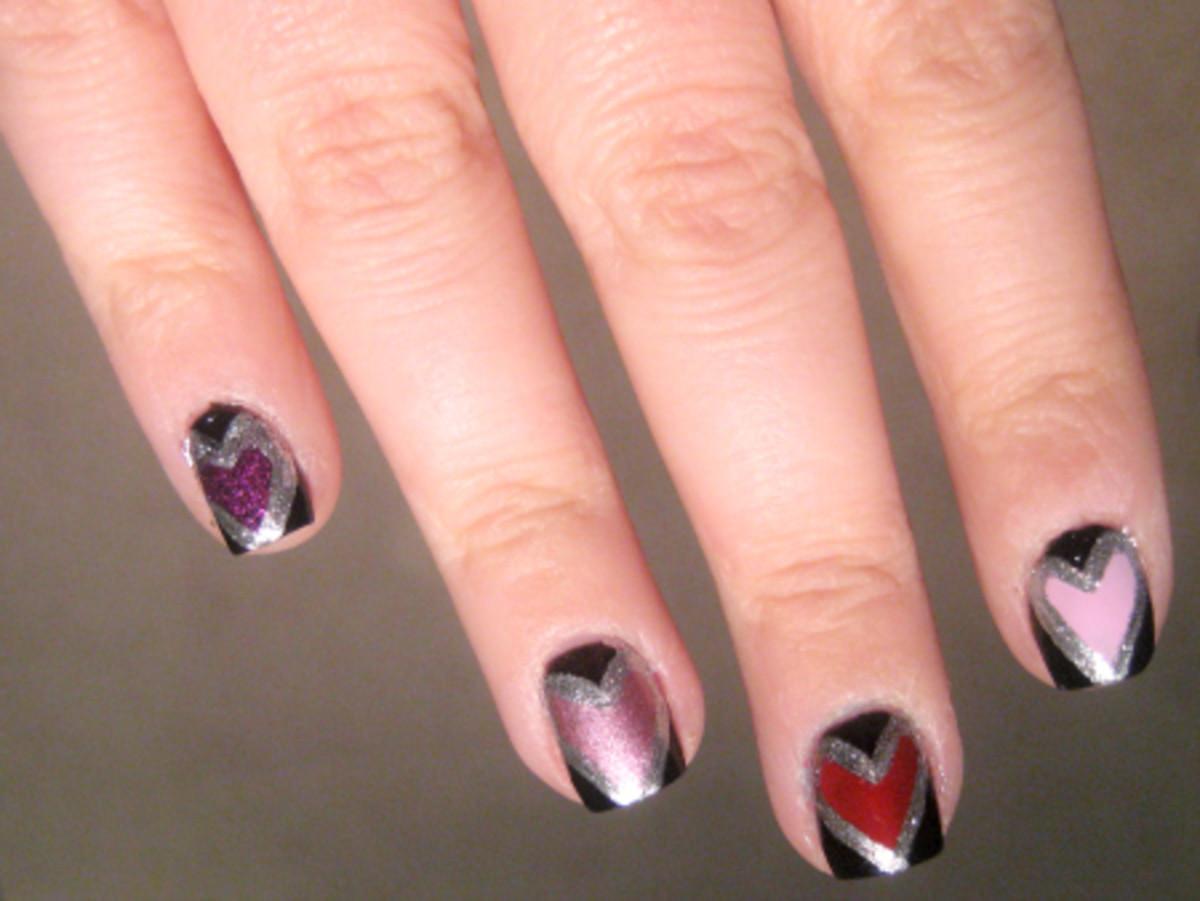 Valentine's Day nail art - step 6