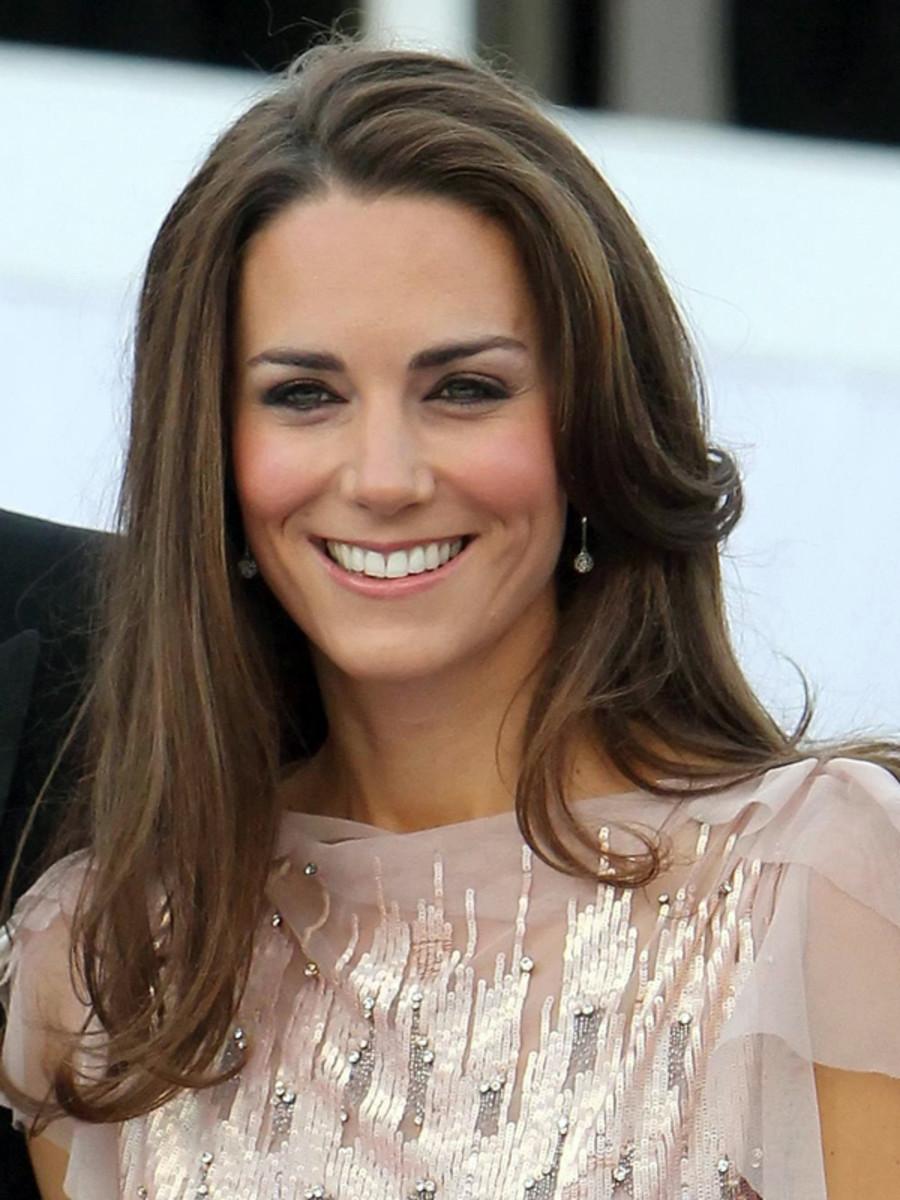 Kate Middleton before bangs