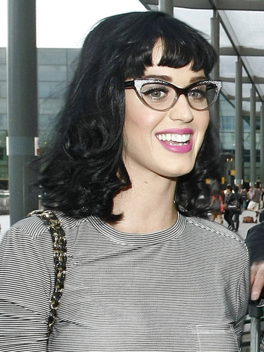 Katy Perry glasses hairstyle