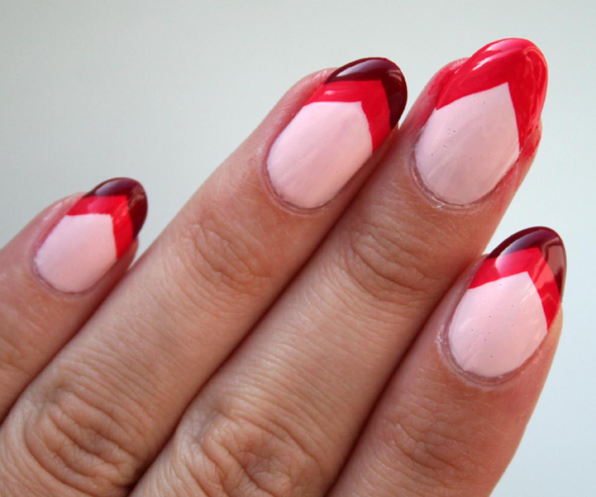 Chevron nails step 5