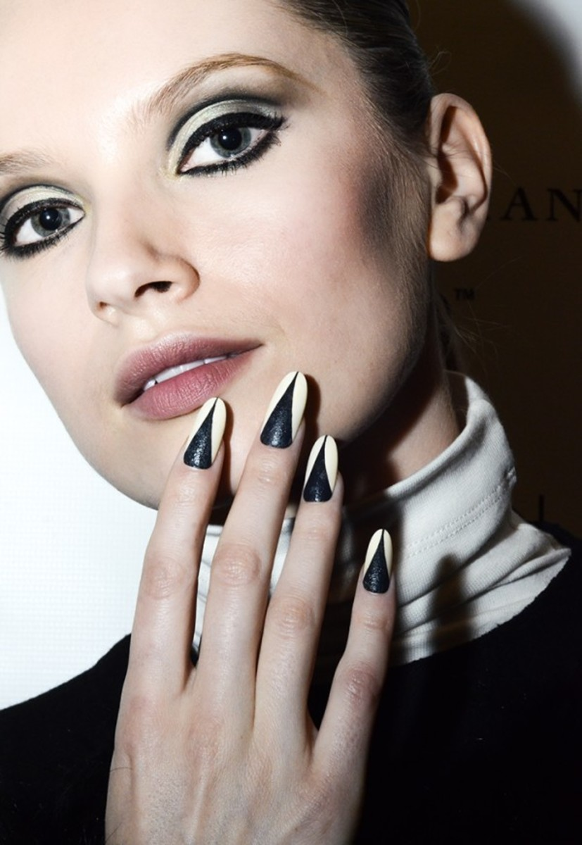 Leather nail art tutorial - Lucian Matis Fall 2013