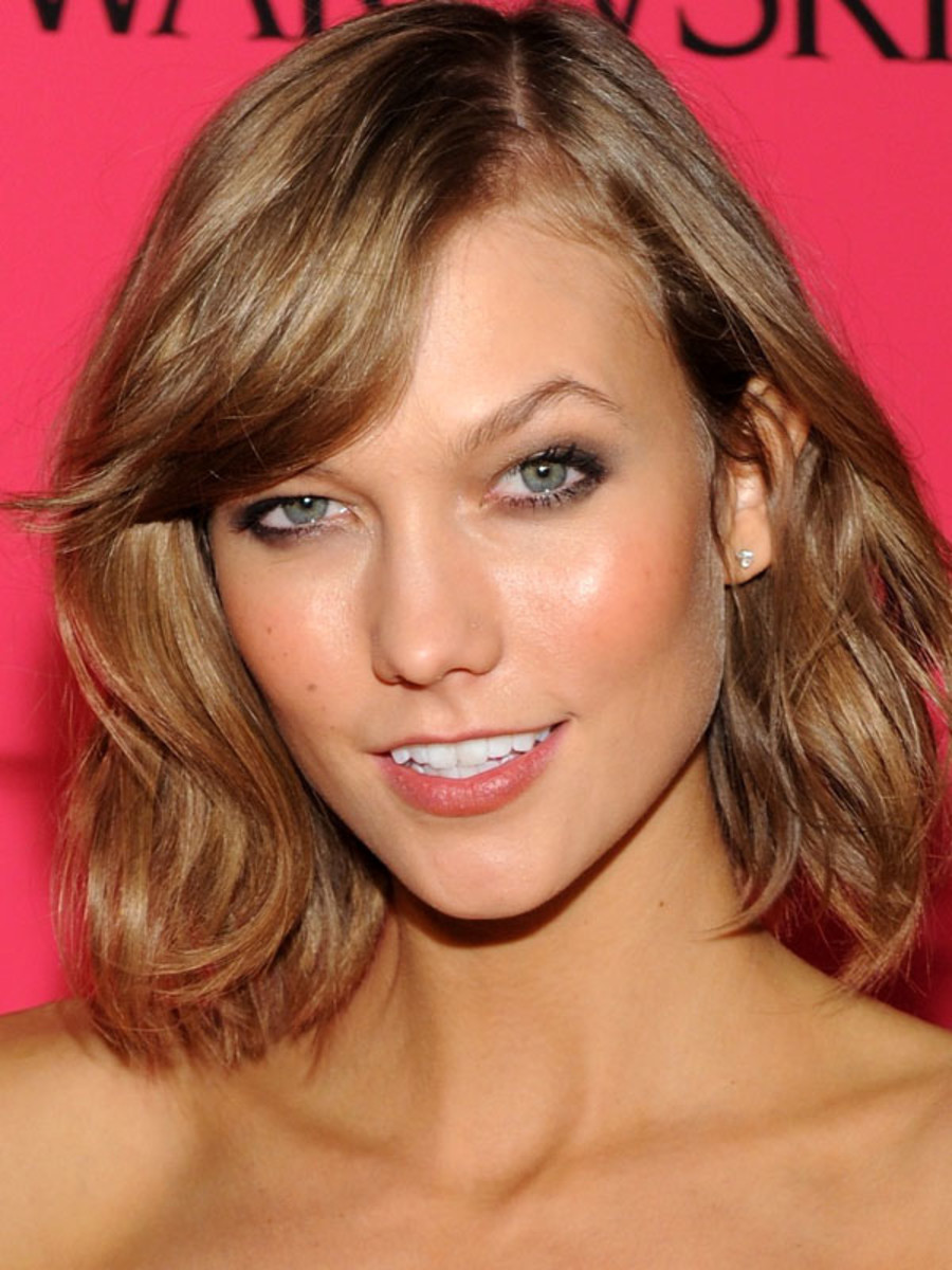 Karlie Kloss, light brown hair, Victoria's Secret after-party, 2013