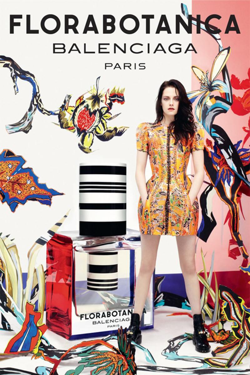 Balenciaga Florabotanica ad with Kristen Stewart