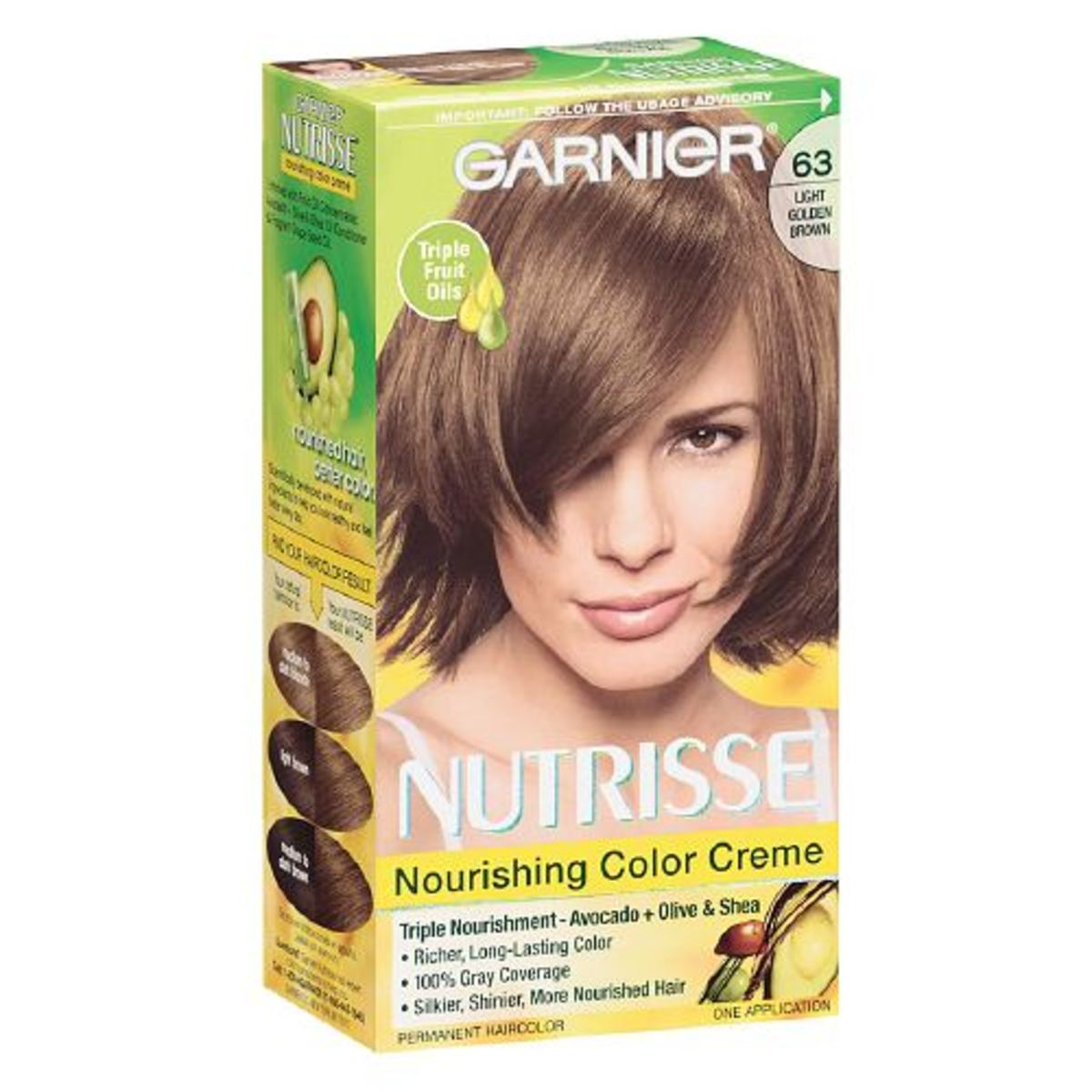 Garnier Nutrisse Permanent Hair Colour in 63 Light Golden Brown