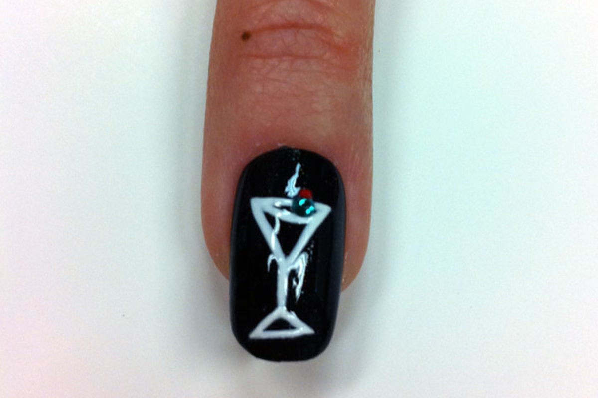 Bond girl nail art by Sally Hansen - martini